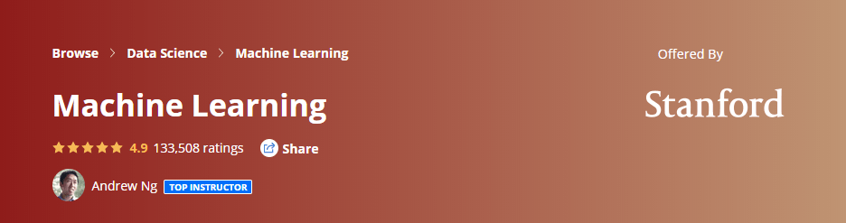 Machine Learning course from Coursera